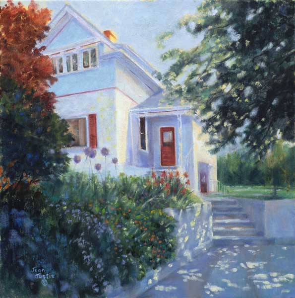 Country house oil paintings joan justis painter of for Oil paintings of houses