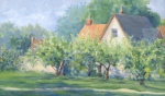 The Neighbor's Apple Trees 12x20 ©Joan Justis-All rights reserved