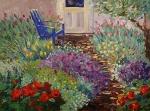 Back Door Garden 16x20 ©Joan Justis-All rights reserved