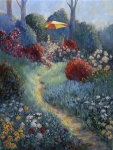 Garden Umbrella 24x18 ©Joan Justis-All rights reserved