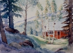 Mountain Cabin 11x15 ©Joan Justis-All rights reserved