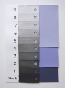violet value scale
