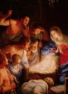 painting of shepherds adoring Jesus