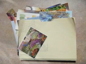 folder of cards
