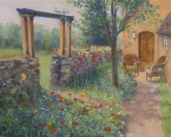 Garden Gate Joan Justis Painter Of Gardens And Wild Spaces
