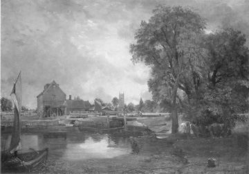 John Constable's painting of a lock and mill