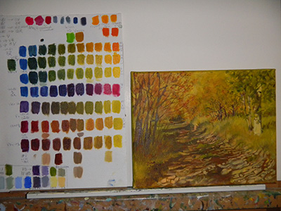 Color chart and painting