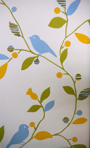 Birds Leaf Trail Wallpaper