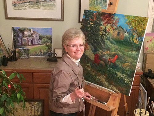 Joan Justis in her studio
