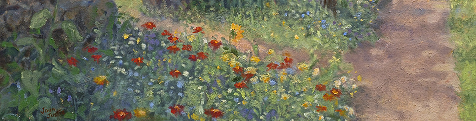 Joan Justis  ~   painter of gardens and wild spaces