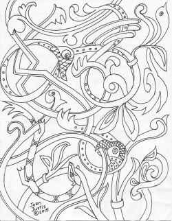 Norse Animal Coloring Page