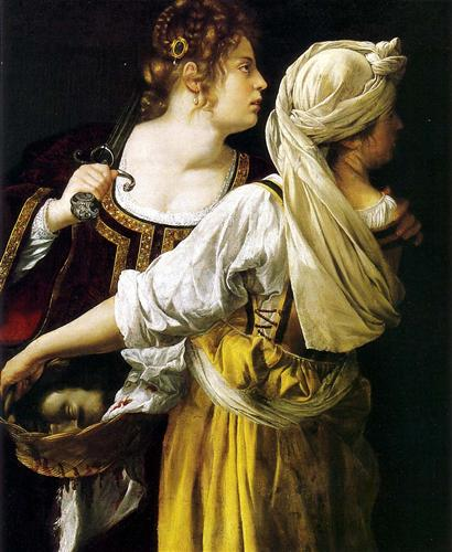 Painting of Judith and Her Maidservant by Artemisia Gentileschi 1613