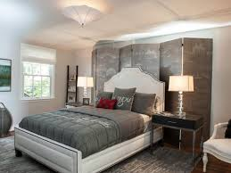Bedroom decorated with warm gray