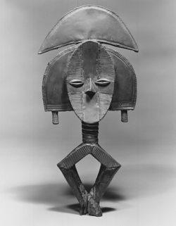Reliquary guardian figure-Mbulu Ngula