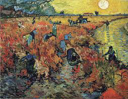 Red Vineyard 1888, Vincent Van Gogh