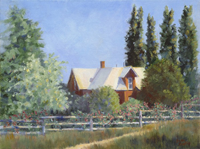 "Rockhill Farm, 12"" x 16"" oil on canvas board"