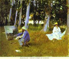 Claude Monet Painting by the Edge of a Wood 1885 by John Singer Sargent